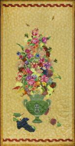 Trionfo di fiori e frutta